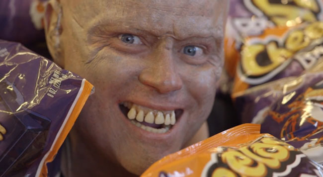 Cheetos pulls cheesy pranks for Halloween Cheetos Bag of Bones