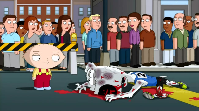 Family Guy Book of Joe skinny race Brian runner broken leg Stewie