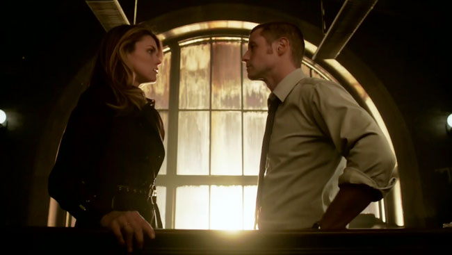 Gotham TV series Arkham Erin Richards (Barbara Kean) James Gordon (Ben McKenzie) lesbian