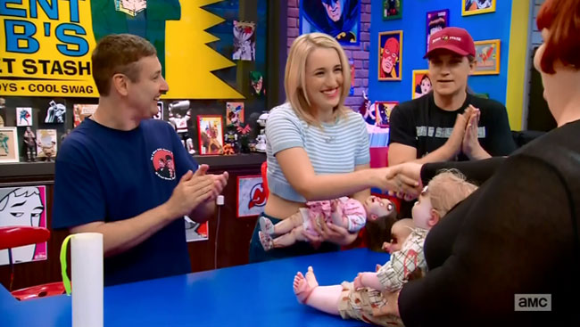 Harley Quinn Smith guest stars on Comic Book Men Baby Rots-A-Lot