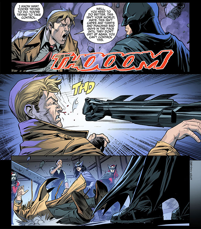 Injustice Gods Among Us Year Three 4 Batman puches Constantine
