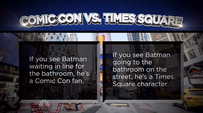 Jimmy Fallon explains how to indentify Comic Con cosplayers Batman