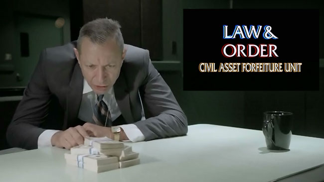 John Oliver busts dirty cops like Law and Order star Jeff Goldblum