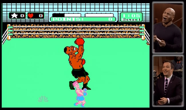 Mike Tyson plays Punch Out on Jimmy Fallon