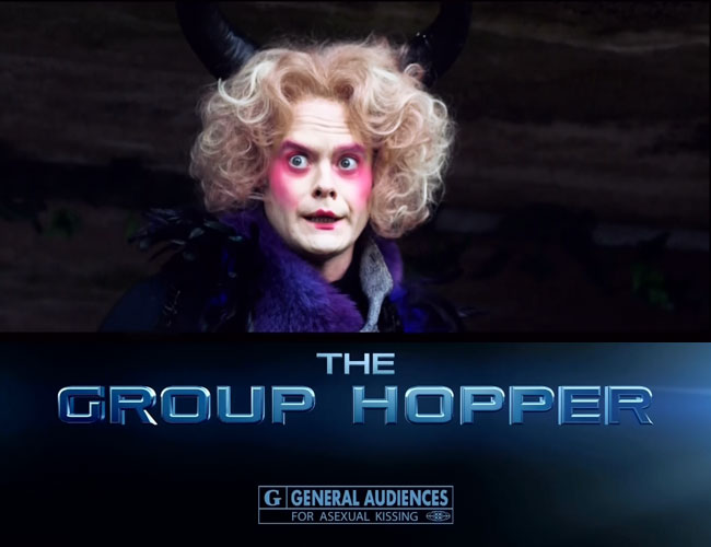 SNL host Bill Hader in teen movie parody The Group Hopper