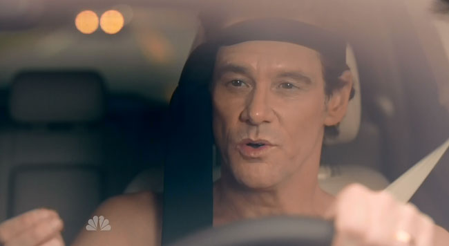 SNL host Jim Carrey parodies Matthew McConaughey Lincoln commercial