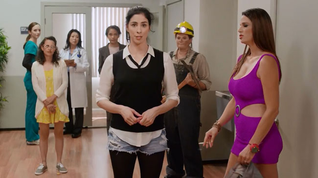Sarah Silverman gets sex change to close gender pay gap jobs
