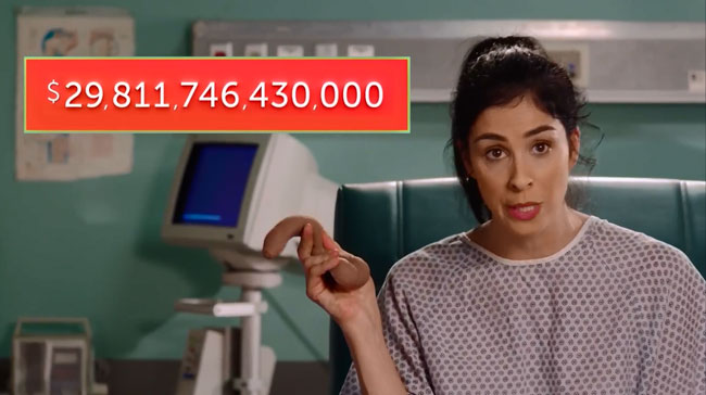 Sarah Silverman gets sex change to close gender pay gap penis