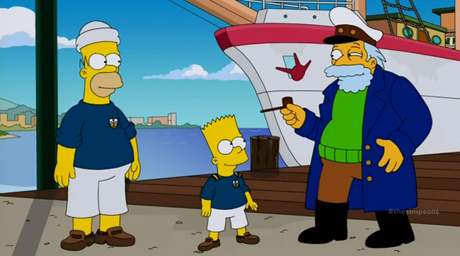 Simpsons Nick Offerman The Wreck of the Relationship Captain Horatio McCallister