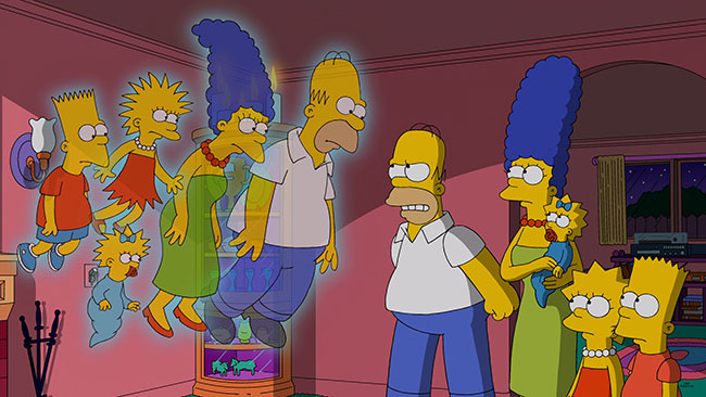 Simpsons Treehouse of Horror XXV ghosts Tracey Ullman show