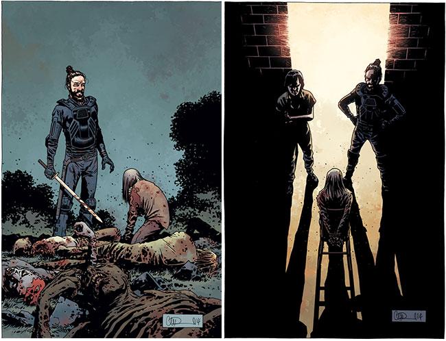 The Walking Dead 134 cover The Walking Dead 135 talking zombie interrogation