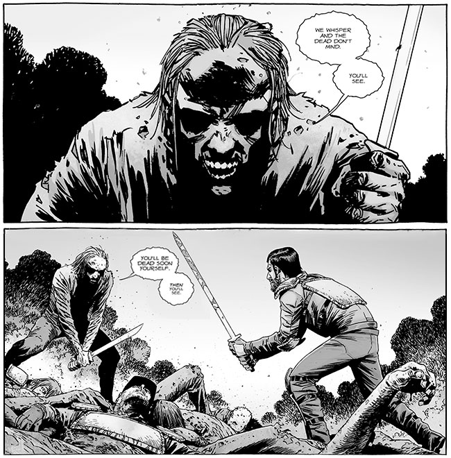 The Walking Dead 132 talking zombie knife Dante