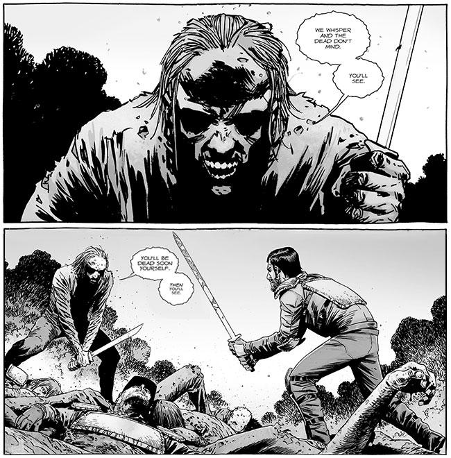 The Walking Dead 132 talking zombie knife Dante