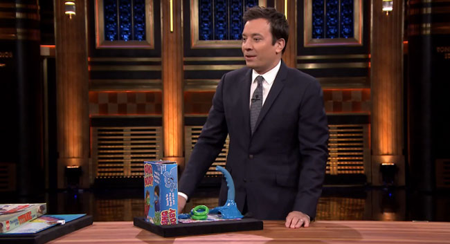 Tonight Show Jimmy Fallon elephant trunk board game