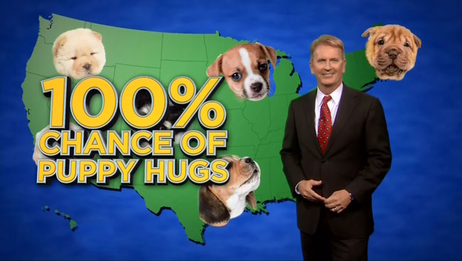 Tonight Show Jimmy Fallon has good news puppies weather forecast