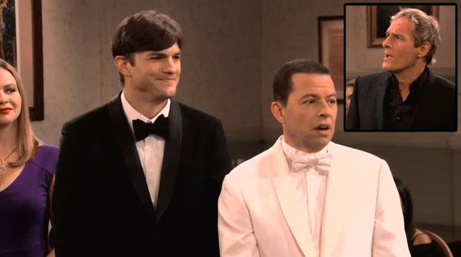 Two and a Half Men gay wedding Walden and Alan Ashton Kutcher Jon Cryer Michael Bolton