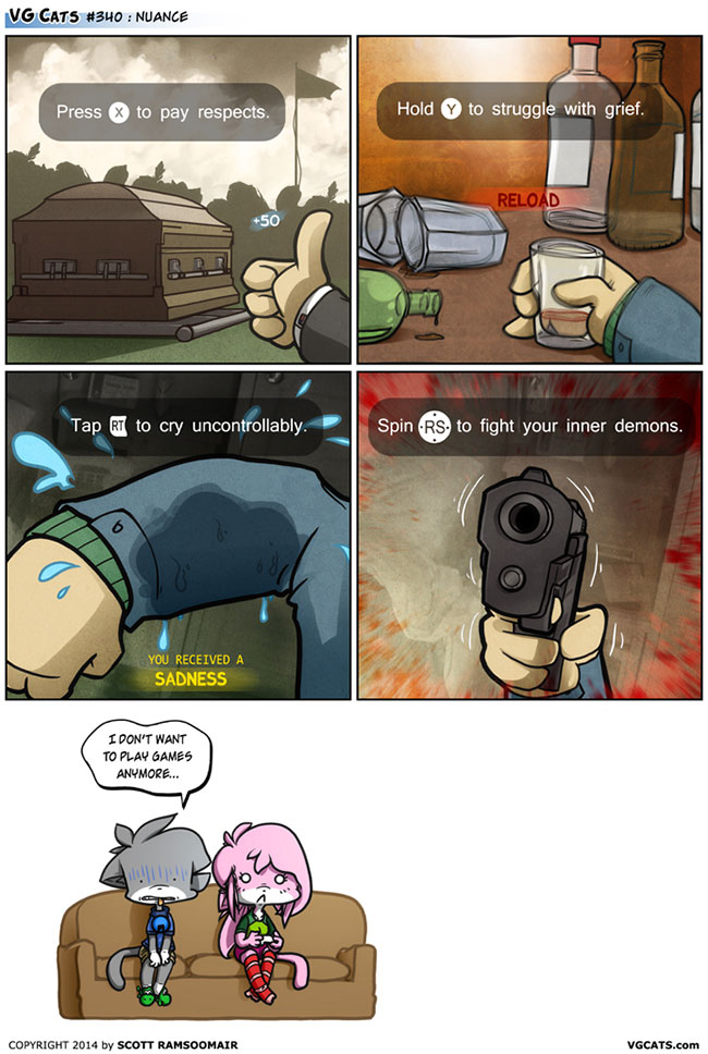 Call of Duty Advanced Warfare quick time events added VG Cats webcomic