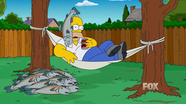John Oliver fires salmon cannon at Jon Stewart Jimmy Fallon and Homer Simpson