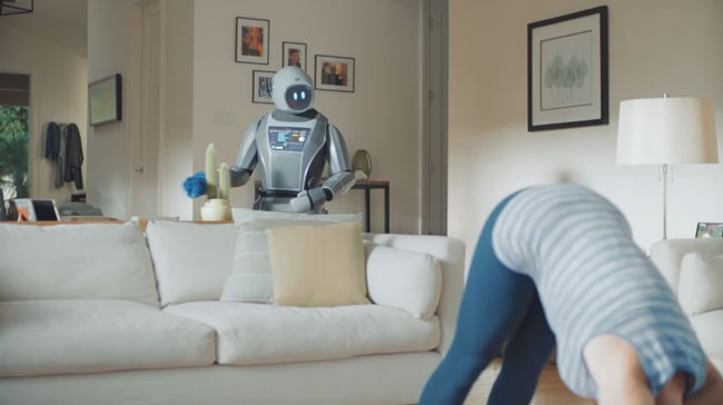 Robot butler serves up big laughs in Wink commercial