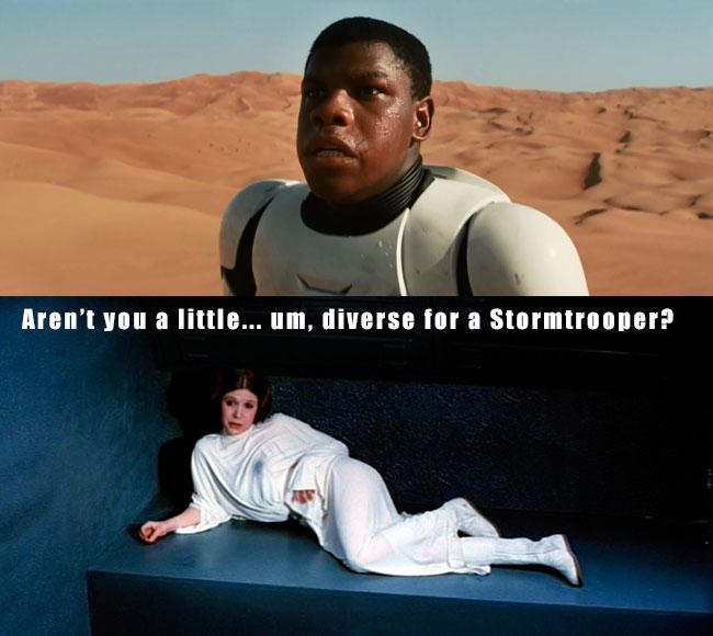 Star Wars 7 trailer stars John Boyega as black Stormtrooper