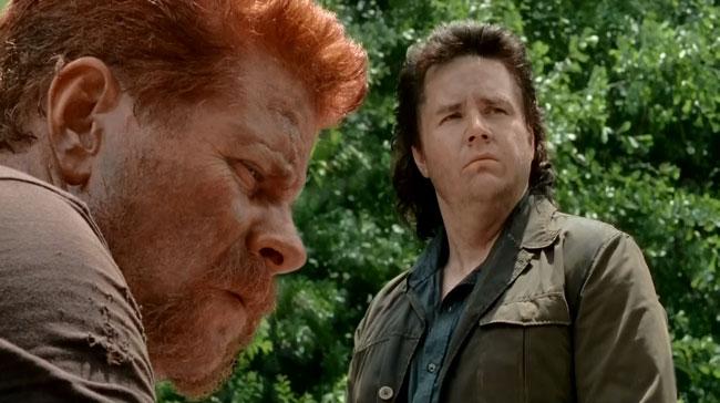 Walking Dead Self Help mustache Abraham Ford Michael Cudlitz mullet Eugene Porter Josh McDermitt