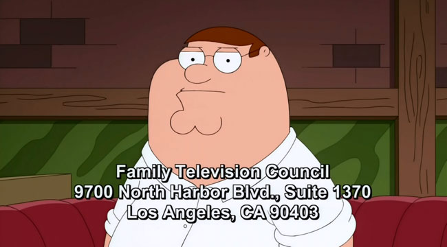 Family Guy The 2000-Year-Old Virgin Peter letter campaign
