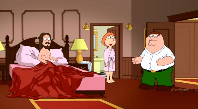 Family Guy The 2000-Year-Old Virgin Peter Lois Jesus sex