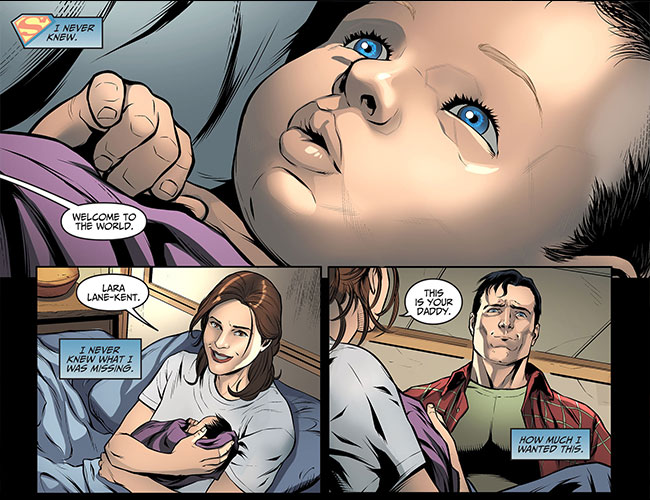 Injustice Gods Among Us Year Three 14 Lois Lane Superman baby Lara Lane-Kent