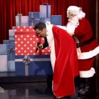Jimmy Fallon sings James Brown song for Christmas Sweepstakes