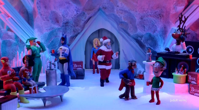 Robot Chicken Lots of Holidays Christmas special Superman Fortress of Solitude Supergirl rave