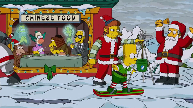 Simpsons Christmas episode I Wont Be Home for Christmas Rabbi Hyman Krustofski Joan Rivers