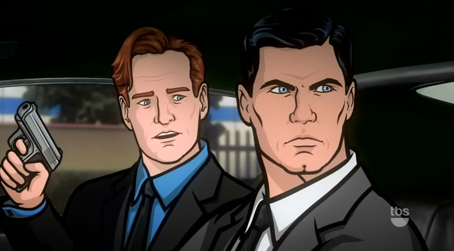 Conan O'Brien stars in Archer cartoon
