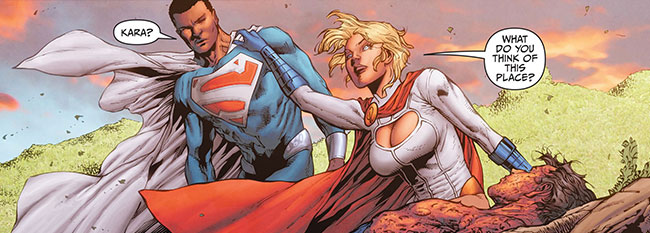 Earth 2 World's End 16 Power Girl Superman funeral Val-Zod
