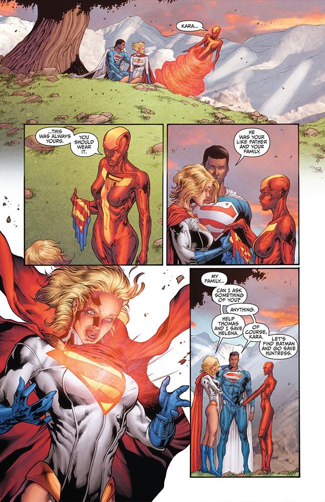 Earth 2 World's End 16 Power Girl Superman funeral boob window