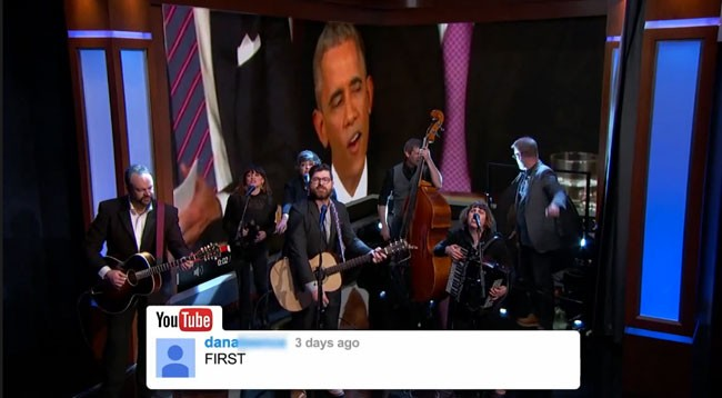 Jimmy Kimmel debuts Decemberists YouTube Comments album