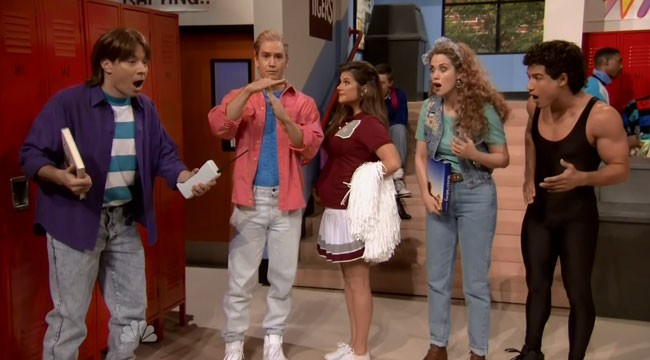 Jimmy Fallon Saved by the Bell reunion Mark-Paul Gosselaar Mario Lopez Tiffani-Amber Thiessen Elizabeth Berkley
