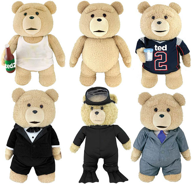 Ted 2 talking teddy bear plush jersey suit scuba tuxedo wife beater tank top