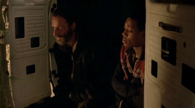 Walking Dead Beth eulogy Rick (Andrew Lincoln) Noah (Tyler James Williams)