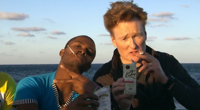 Conan O'Brien Cuba Rum Cigarettes smoking