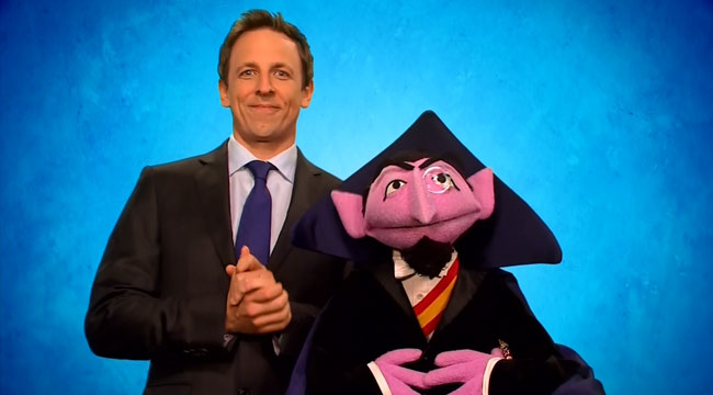 Tax On Bonus Uk >> Sesame Street Count number one guest on Seth Meyers - L7 World