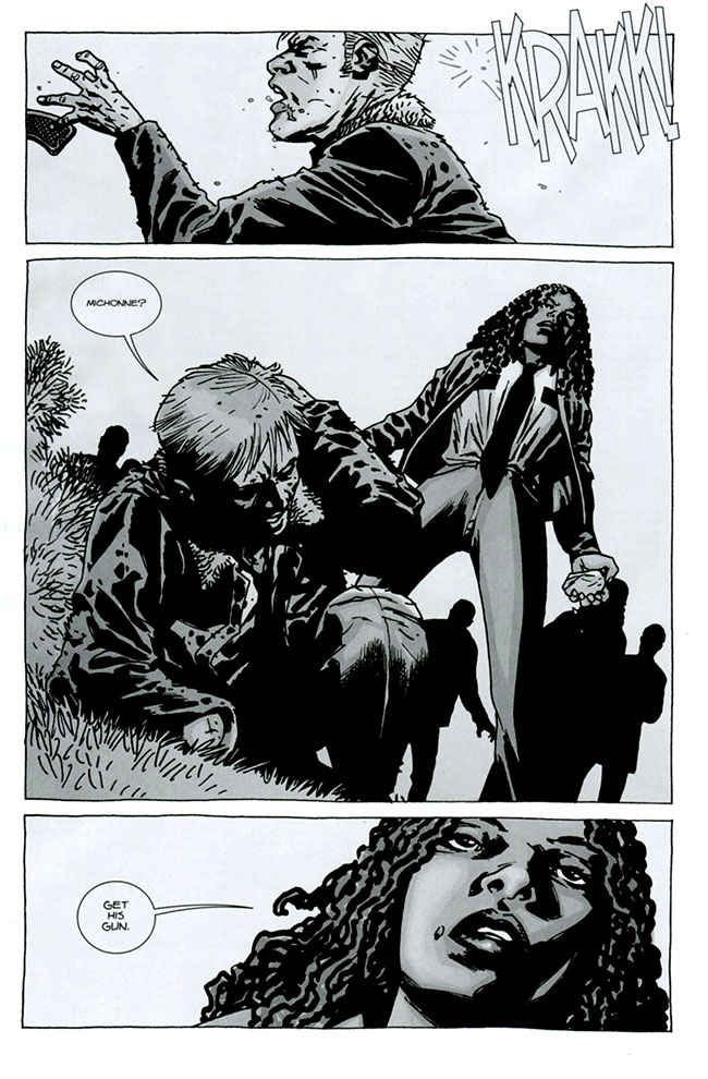 Walking Dead 75 Michonne hits Rick Alexandria