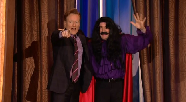 Conan Obrien goodbye to writer Brian Stack Interrupter