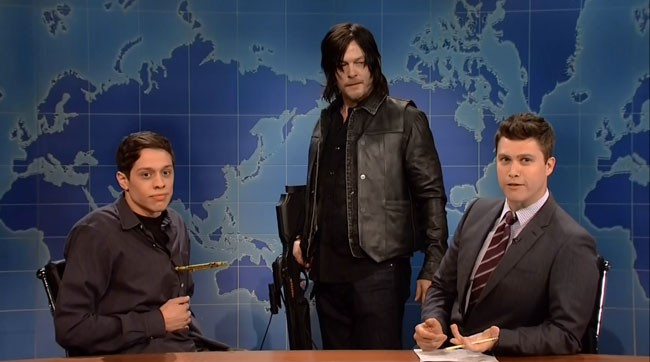 Saturday Night Live SNL Walking Dead Daryl Norman Reedus Pete Davidson Colin Jost
