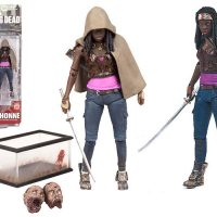 Walking Dead Michonne action figure series 6 zombie pets decapitated fish tank katana McFarlane Toys