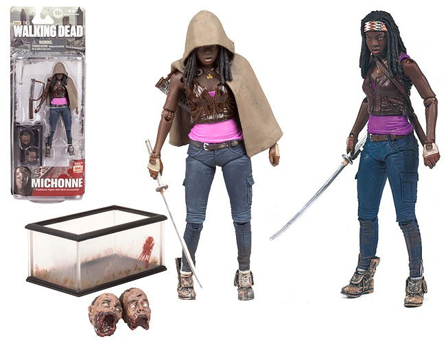 Walking Dead Michonne action figure series 6 zombie pets decapitated fish tank katana McFarlane Toys