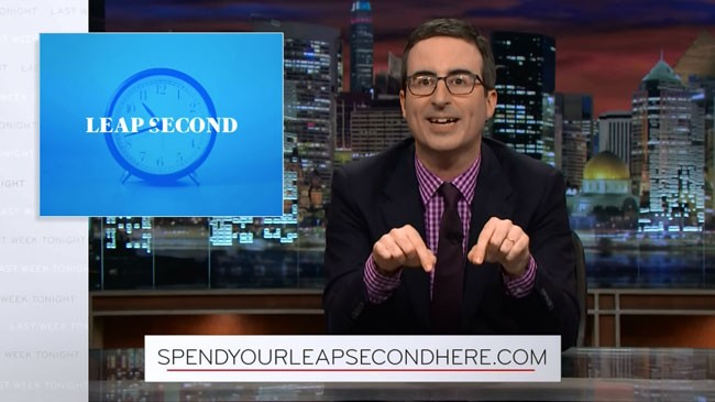 Last Week Tonight with John Oliver leap second website
