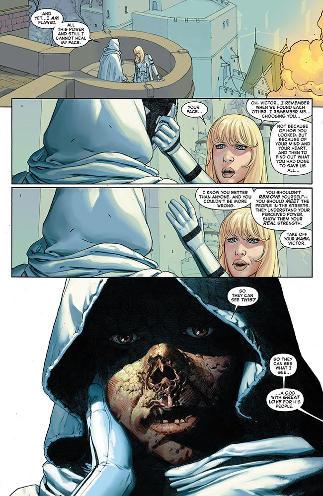 Secret Wars 3 Doctor Doom face Invisible Woman Susan Richards