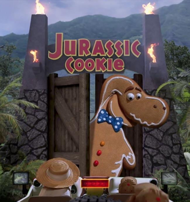 Sesame Street Cookie Monster Jurassic Park Parody