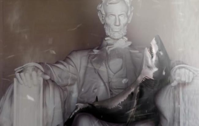 Sharknado 3 Oh Hell No Shark tornado Lincoln Memorial