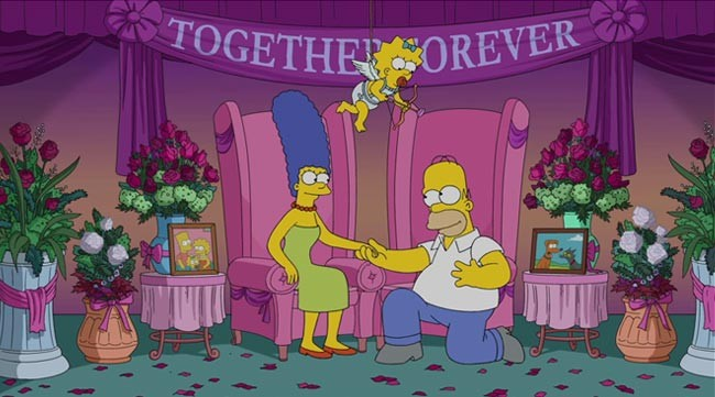 Simpsons split up rumors Marger Homer Maggie Cupid